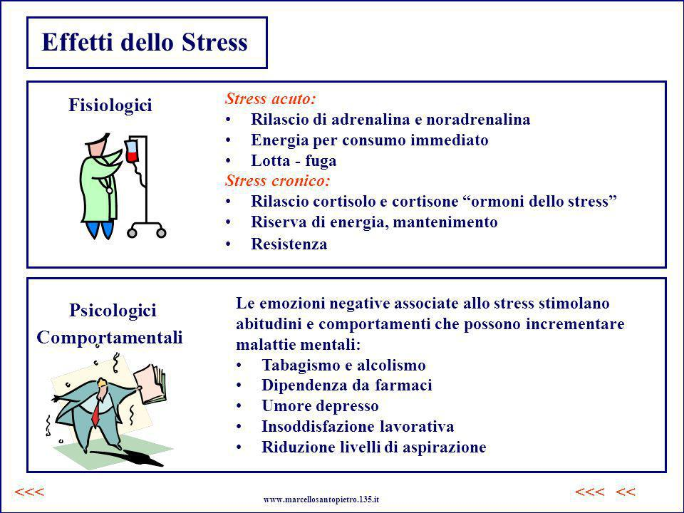 Effetti dello Stress Fisiologici Psicologici Comportamentali