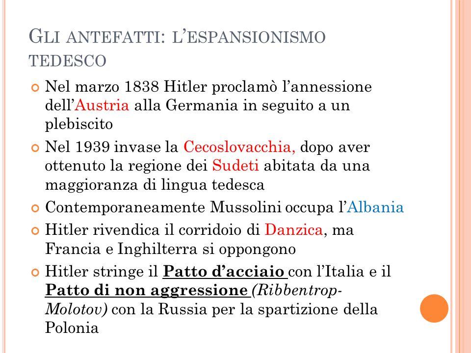 Gli antefatti: l'espansionismo tedesco