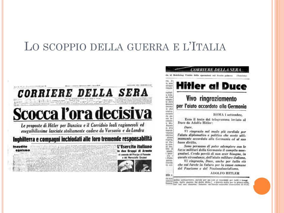 Lo scoppio della guerra e l'Italia