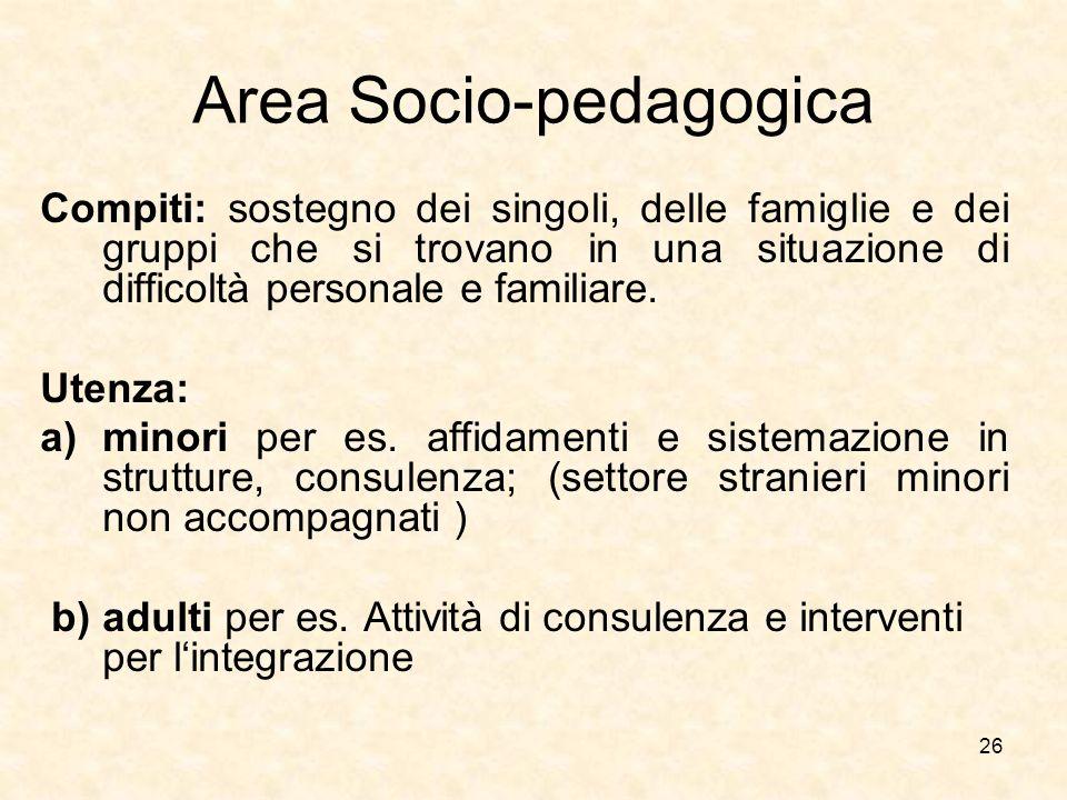 Area Socio-pedagogica