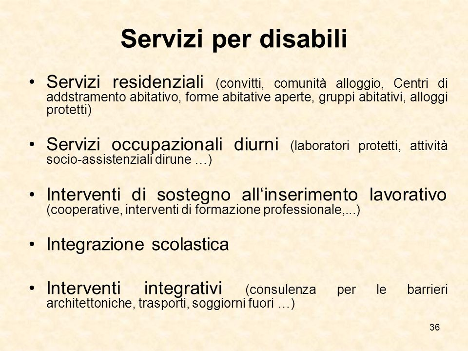 Servizi per disabili