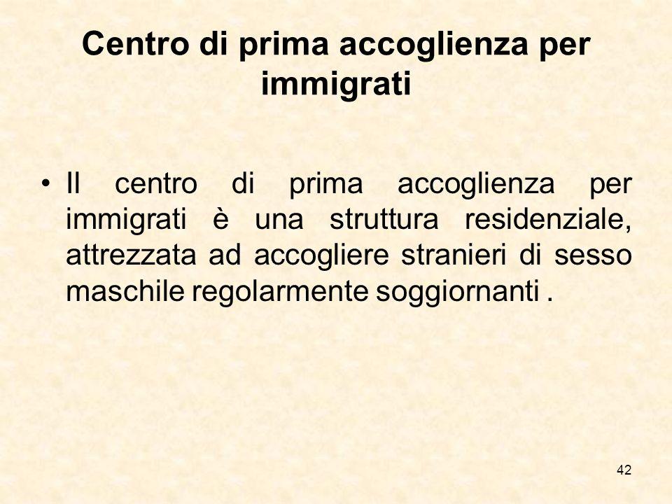 Centro di prima accoglienza per immigrati