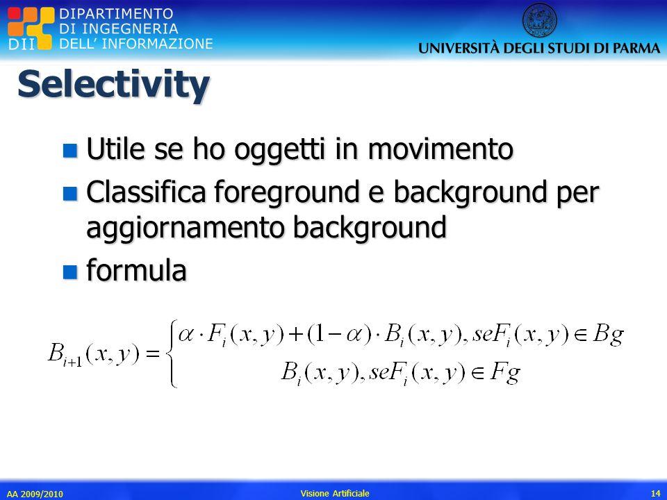 Selectivity Utile se ho oggetti in movimento