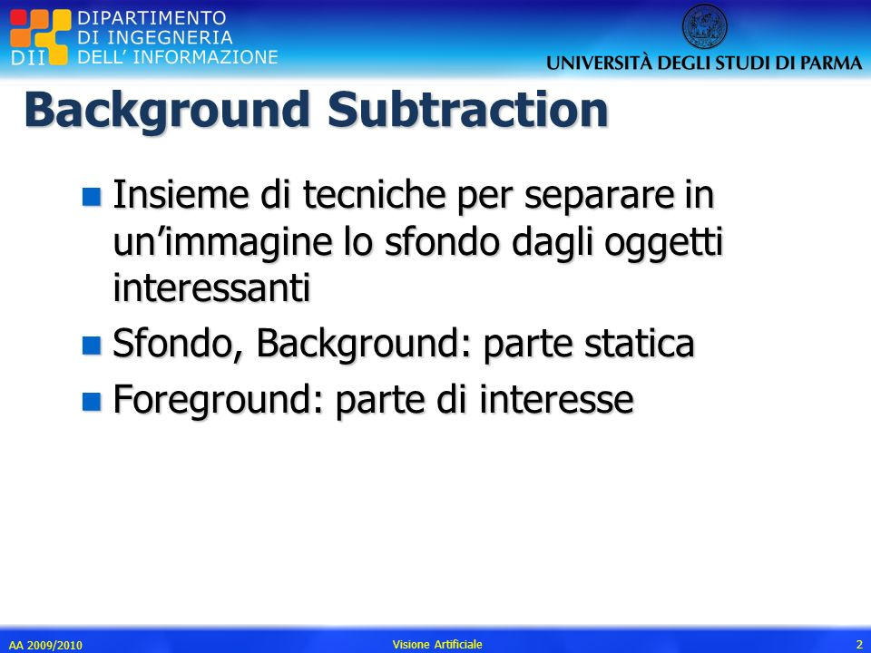 Background Subtraction
