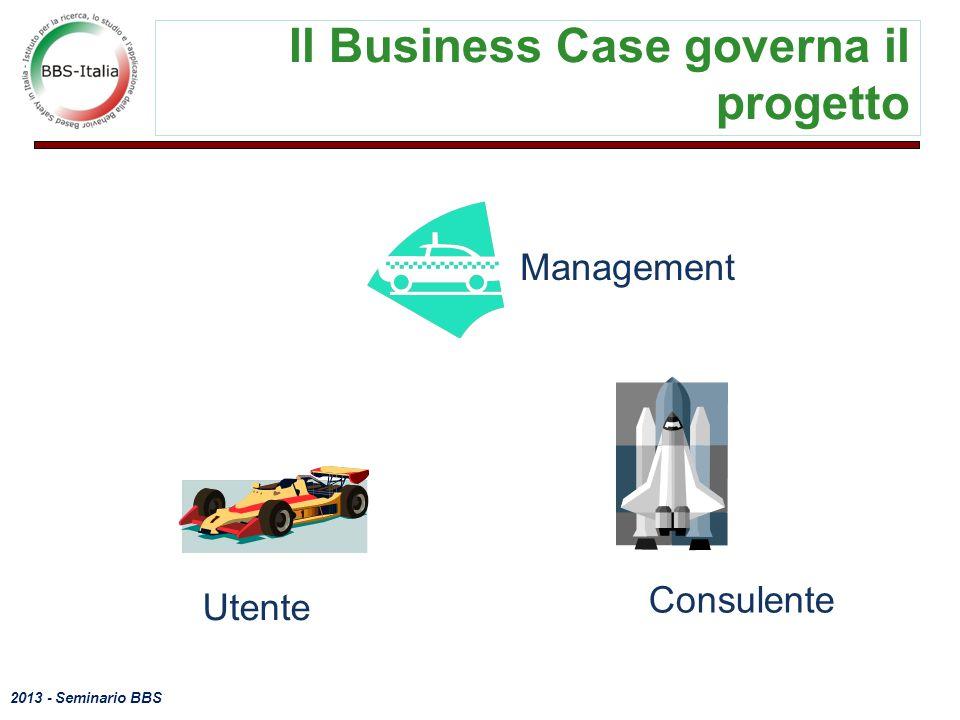 Il Business Case governa il progetto