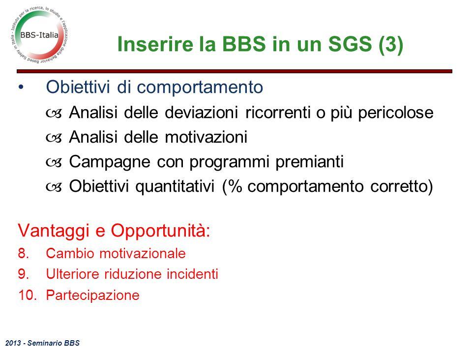 Inserire la BBS in un SGS (3)