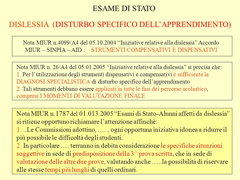 DISLESSIA (DISTURBO SPECIFICO DELL'APPRENDIMENTO)