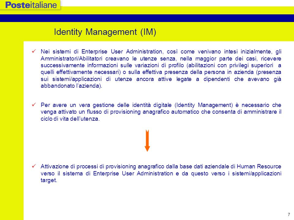 Identity Management (IM)