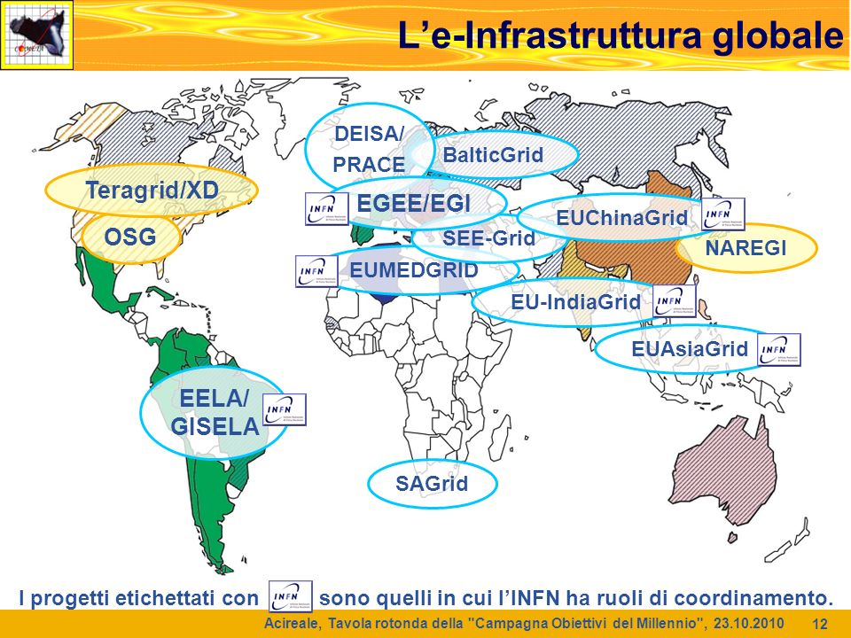 L'e-Infrastruttura globale