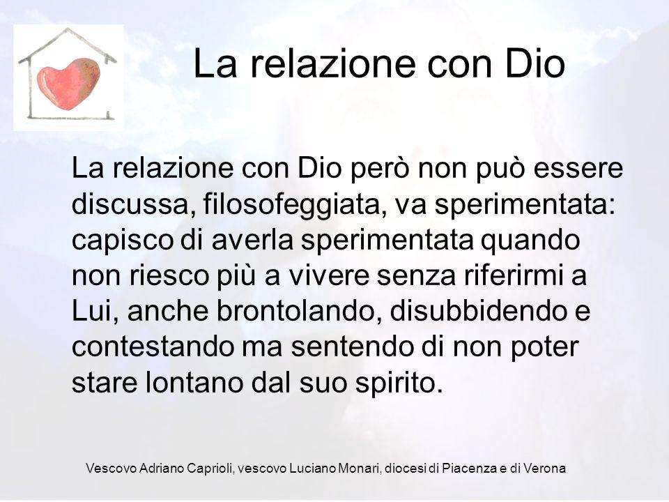 La relazione con Dio