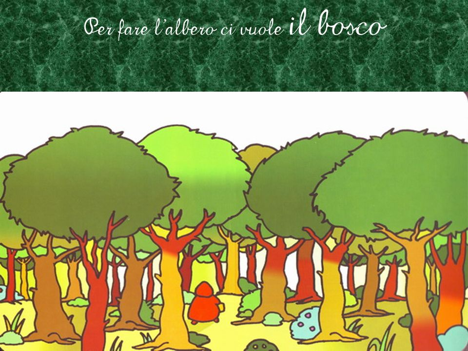 Per fare l'albero ci vuole il bosco