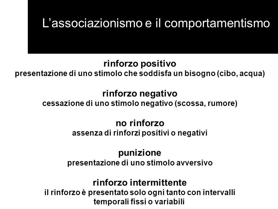 L'associazionismo e il comportamentismo