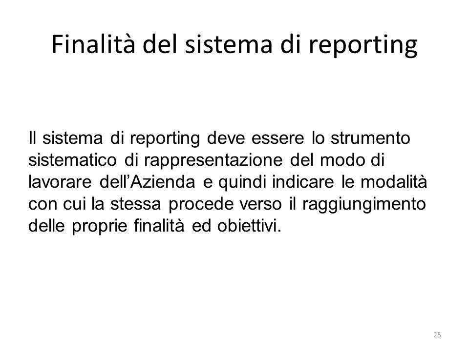 Finalità del sistema di reporting