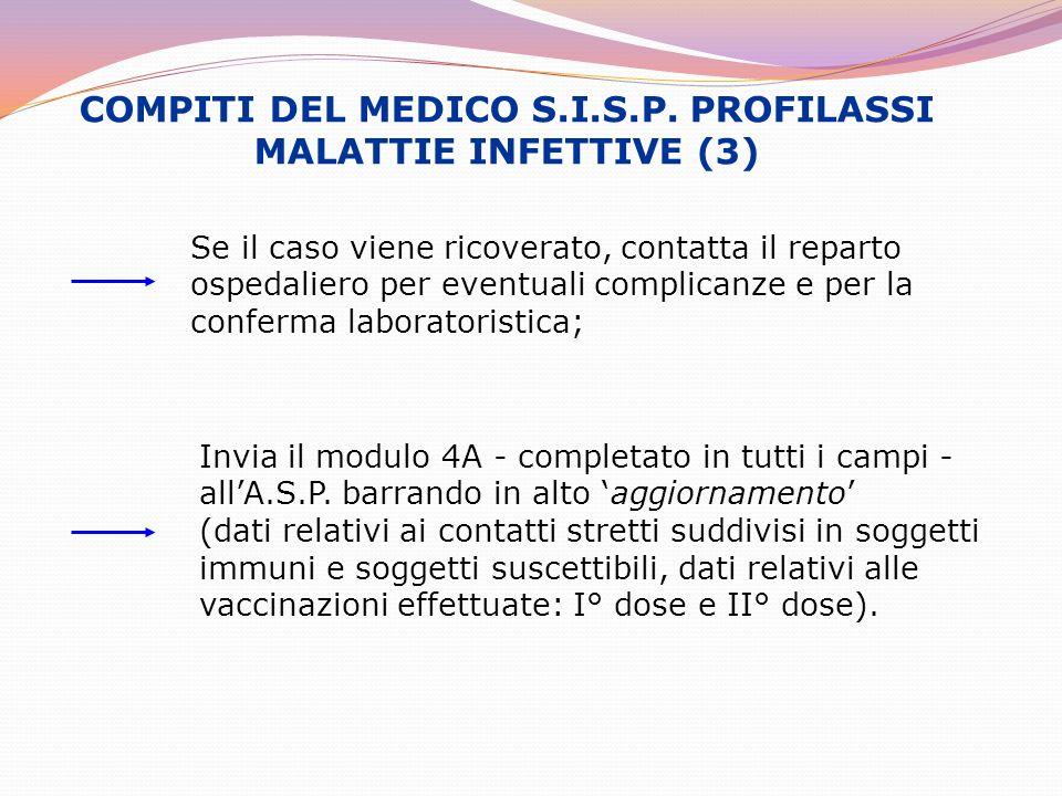 COMPITI DEL MEDICO S.I.S.P. PROFILASSI MALATTIE INFETTIVE (3)