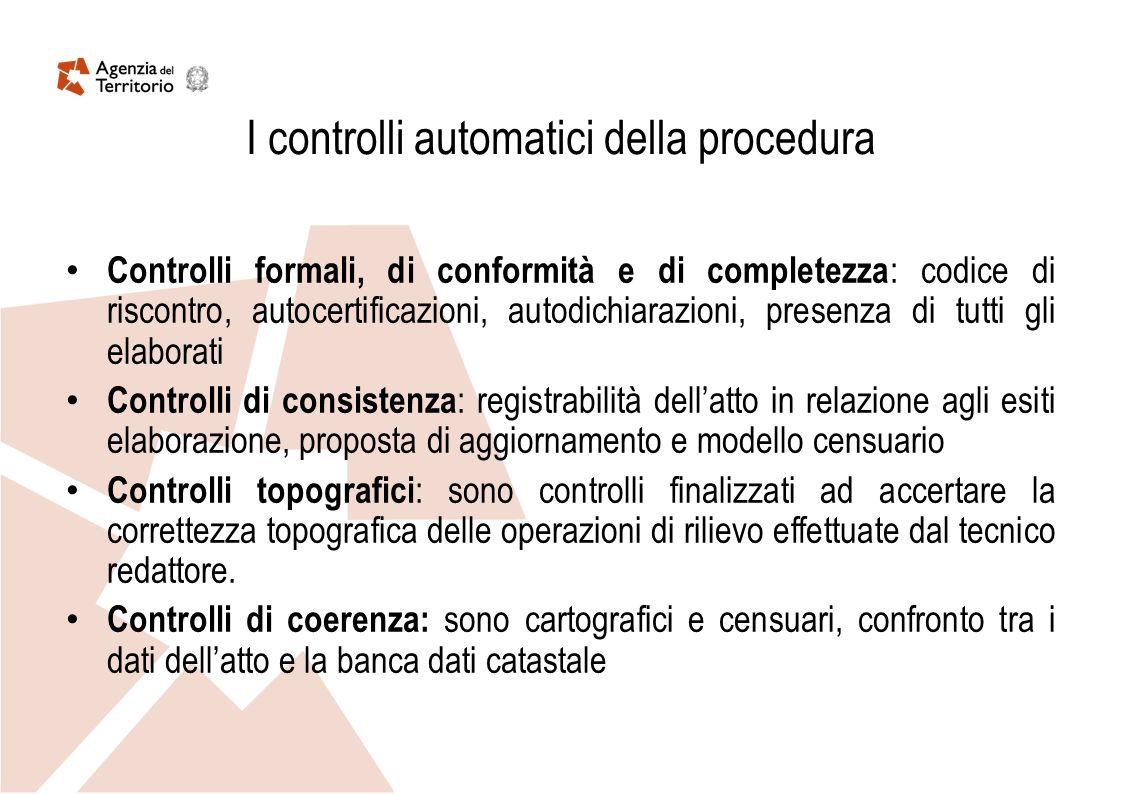 I controlli automatici della procedura