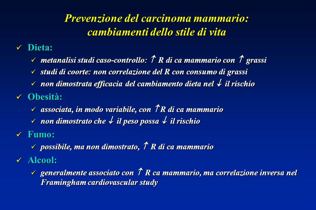 Prevenzione del carcinoma mammario: cambiamenti dello stile di vita