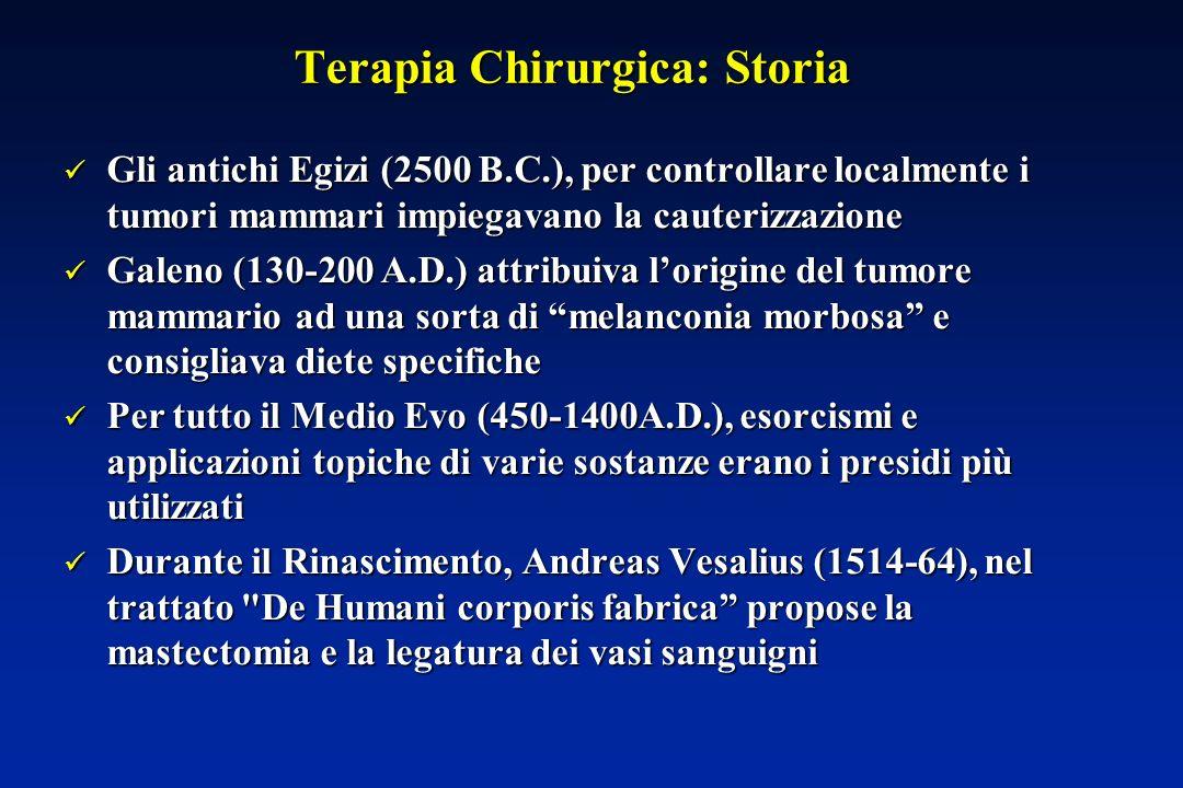 Terapia Chirurgica: Storia