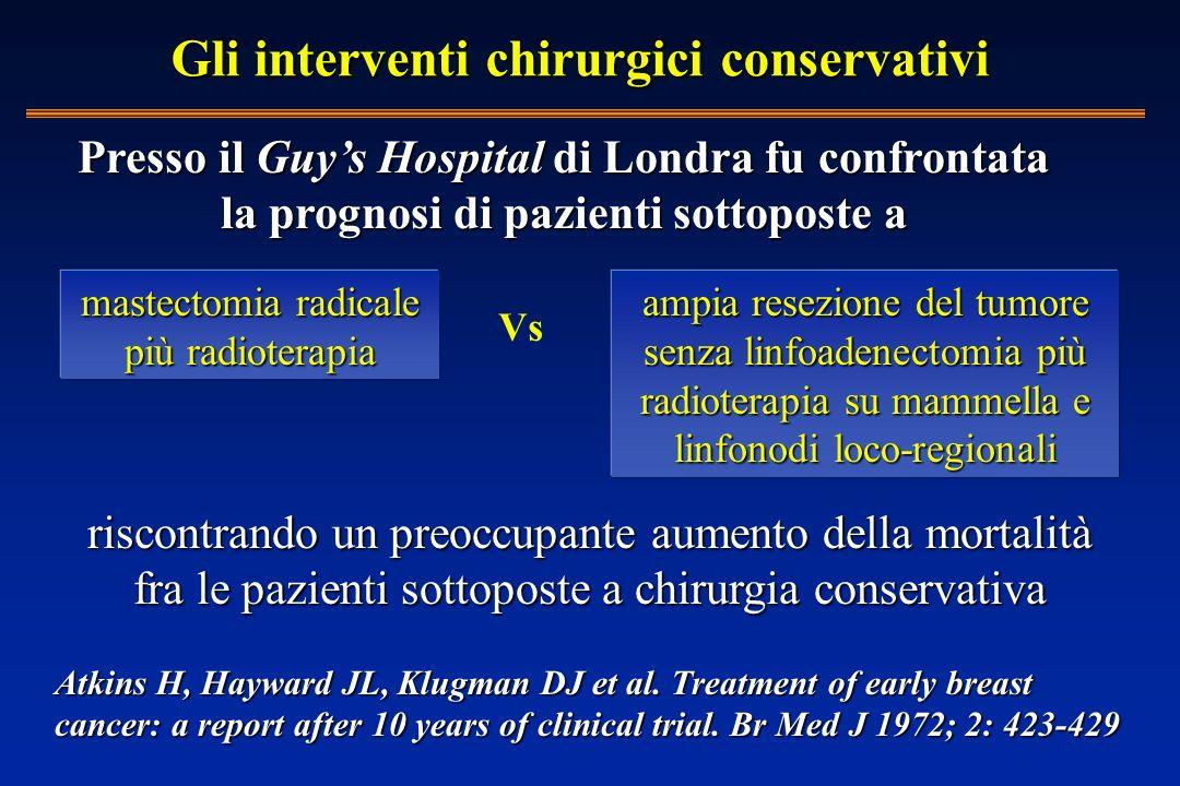 Gli interventi chirurgici conservativi