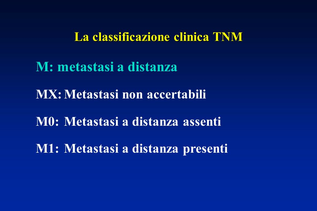 La classificazione clinica TNM