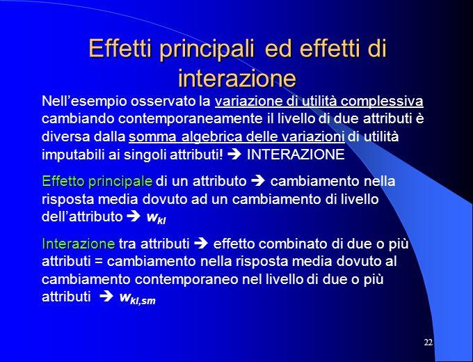 Effetti principali ed effetti di interazione