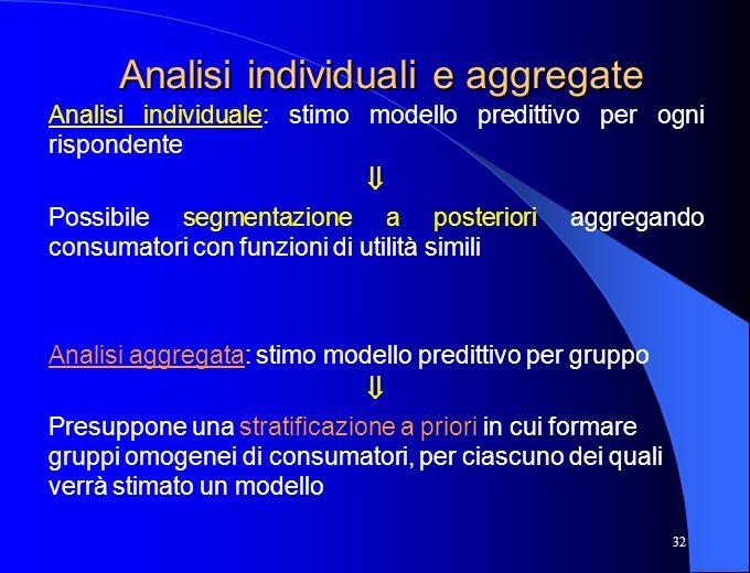 Analisi individuali e aggregate