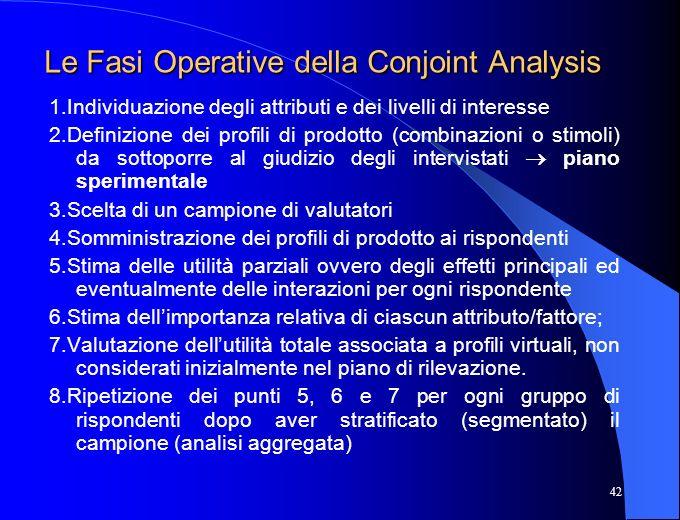 Le Fasi Operative della Conjoint Analysis