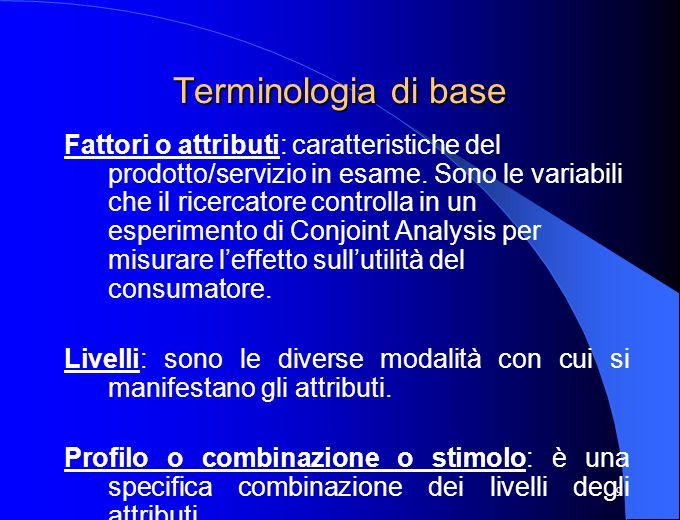 Terminologia di base
