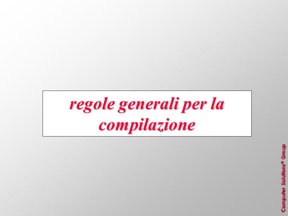 regole generali per la compilazione