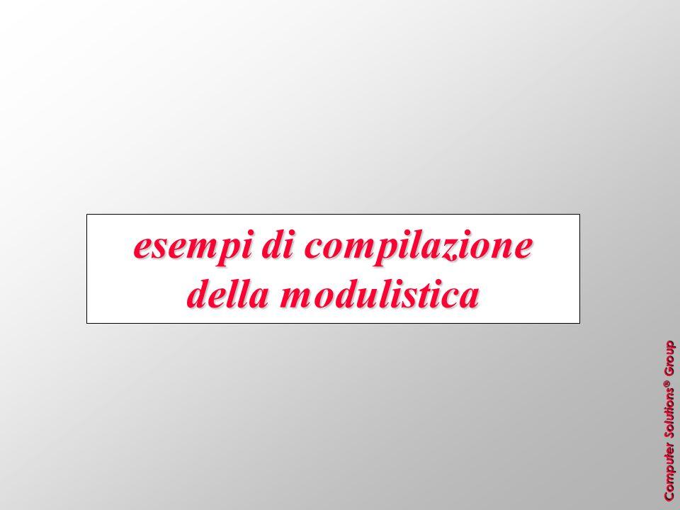 esempi di compilazione della modulistica