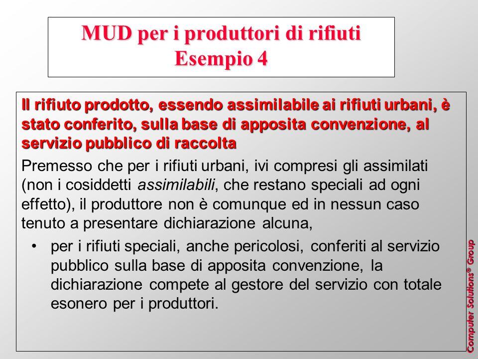 MUD per i produttori di rifiuti Esempio 4