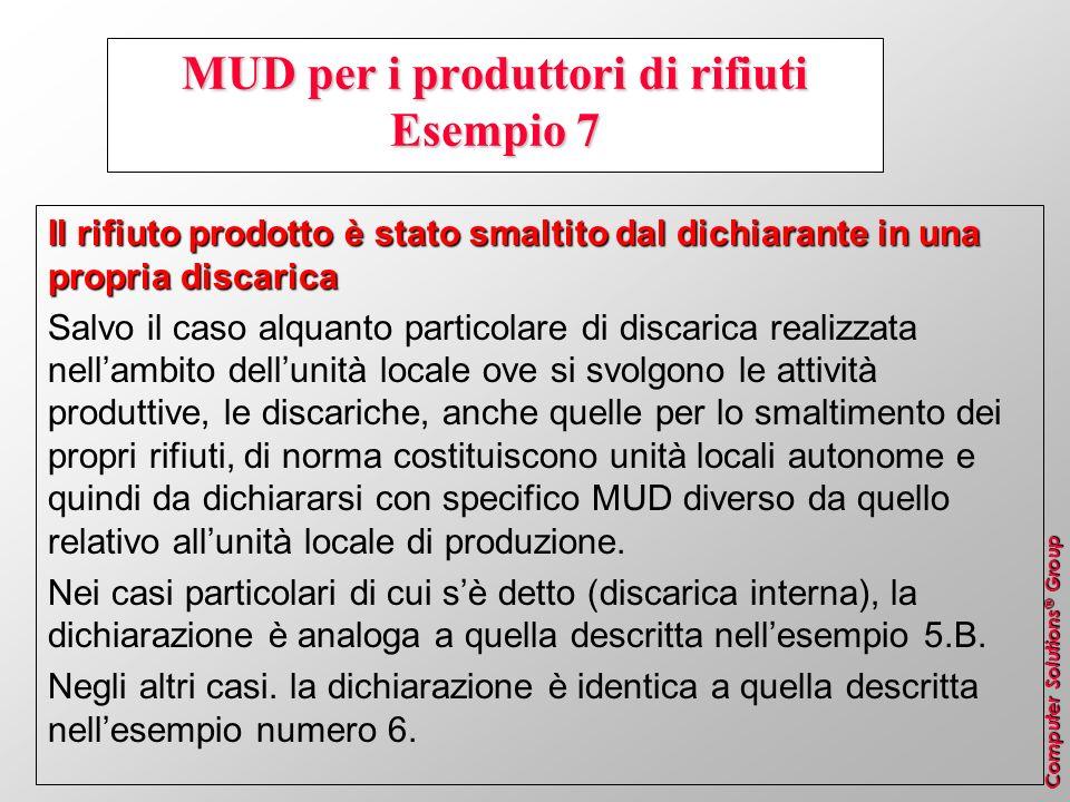 MUD per i produttori di rifiuti Esempio 7
