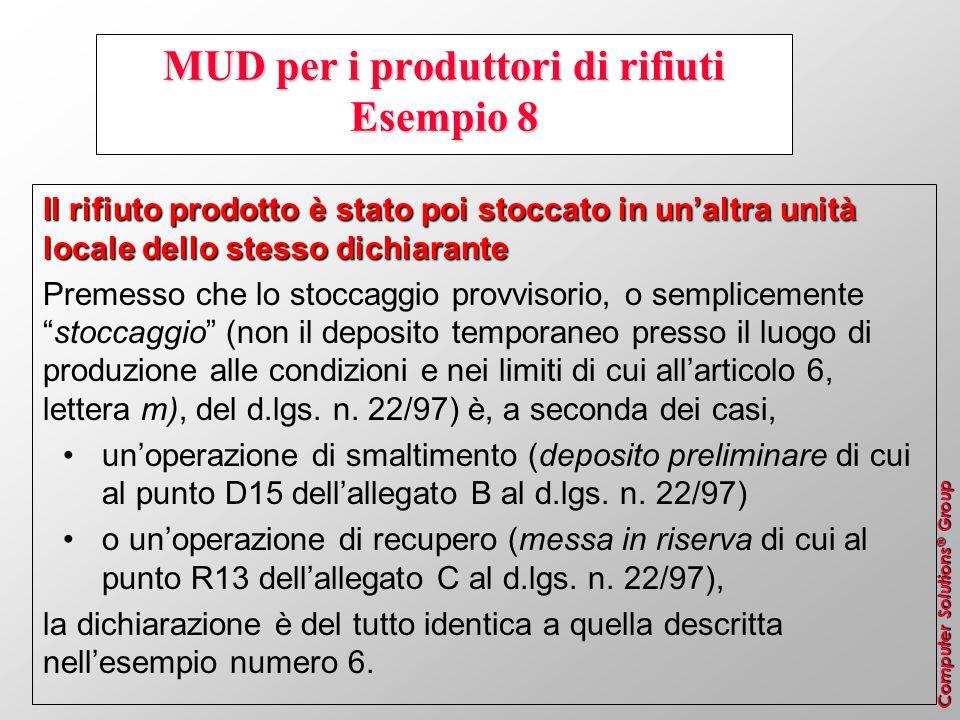 MUD per i produttori di rifiuti Esempio 8
