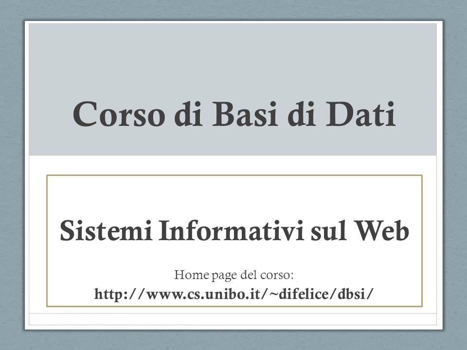 Sistemi Informativi sul Web