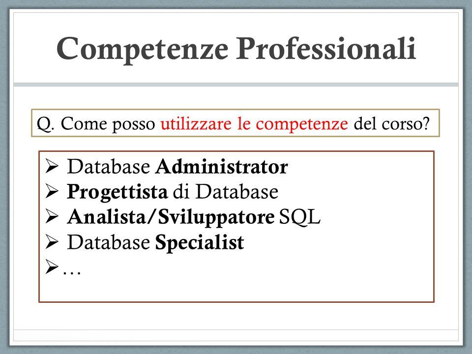 Competenze Professionali