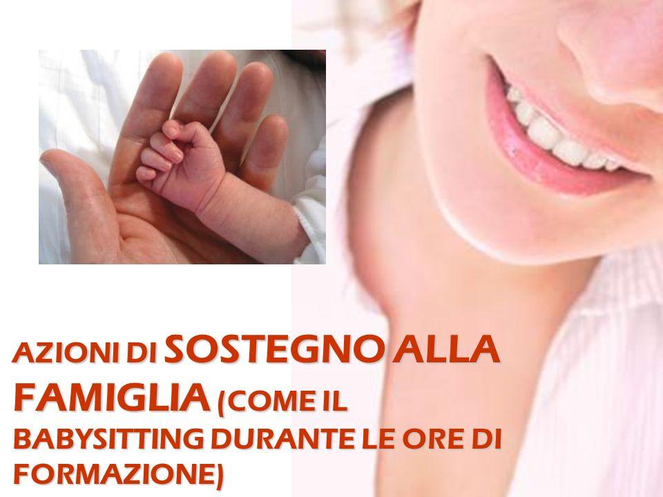 AZIONI DI SOSTEGNO ALLA FAMIGLIA (COME IL BABYSITTING DURANTE LE ORE DI FORMAZIONE)
