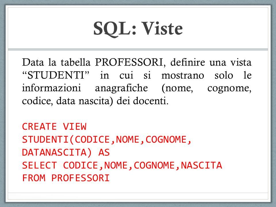 SQL: Viste