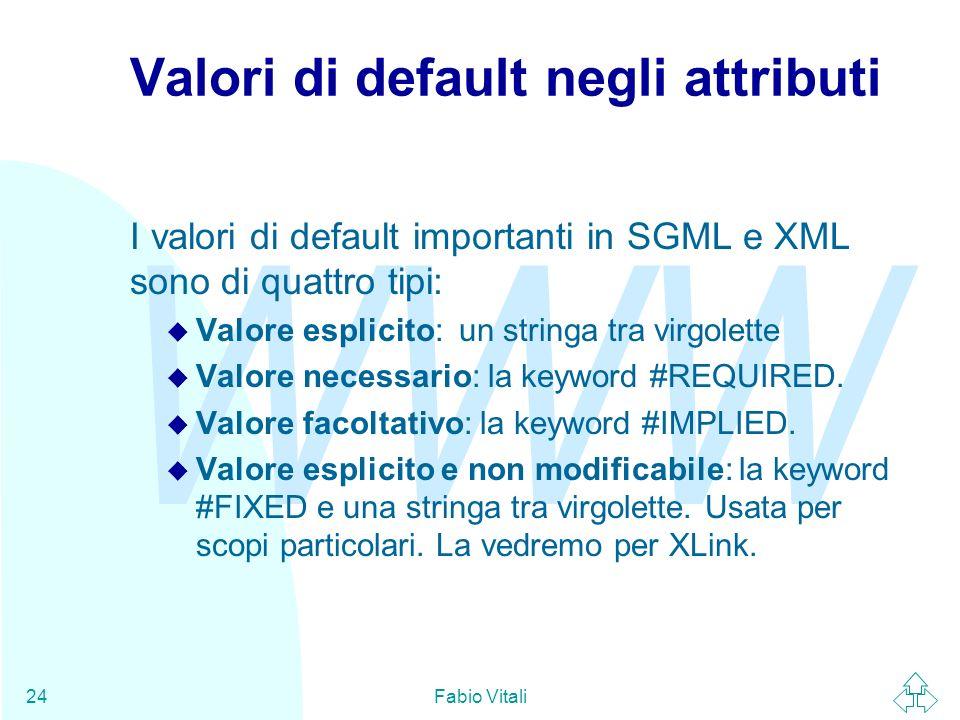 Valori di default negli attributi