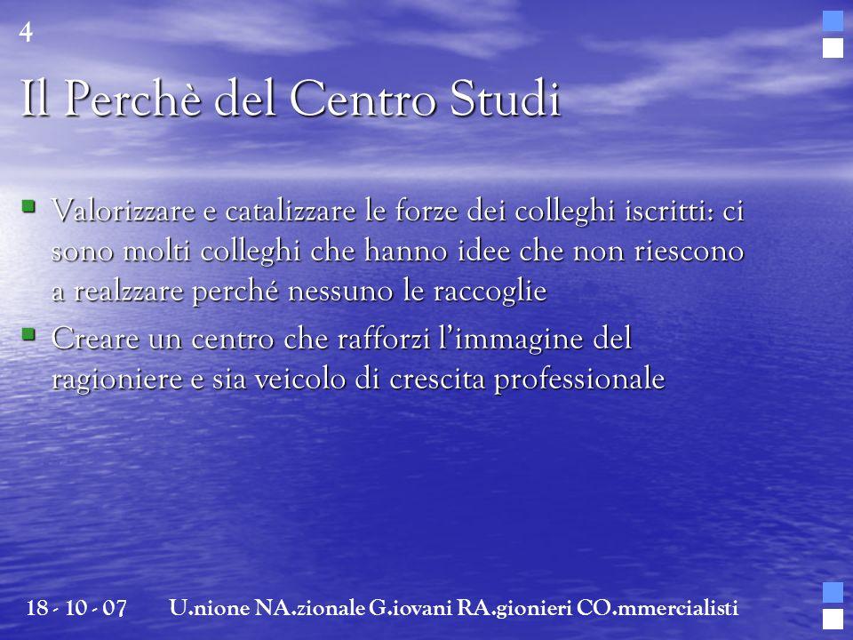 Il Perchè del Centro Studi