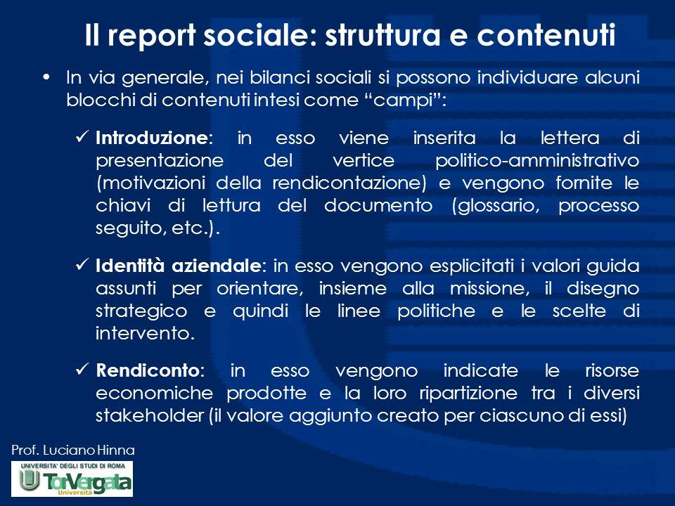 Il report sociale: struttura e contenuti