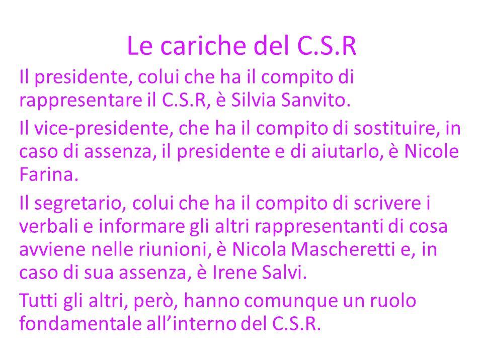 Le cariche del C.S.R
