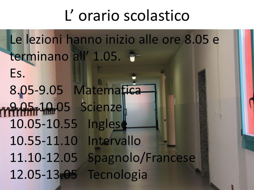 L' orario scolastico