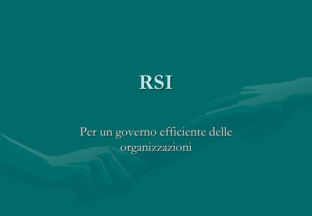 Per un governo efficiente delle organizzazioni