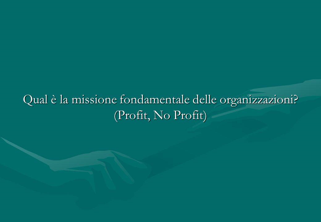 Qual è la missione fondamentale delle organizzazioni