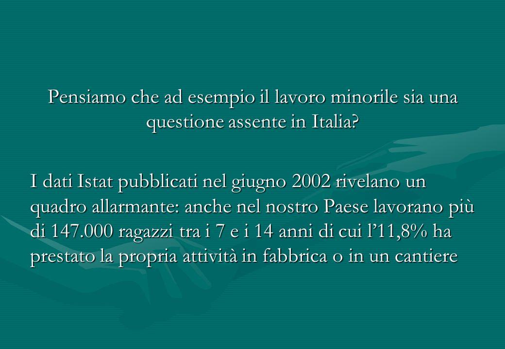 Pensiamo che ad esempio il lavoro minorile sia una questione assente in Italia