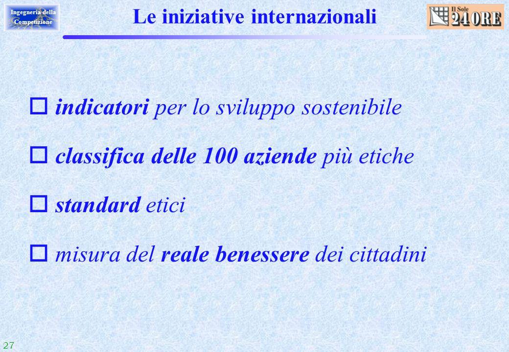Le iniziative internazionali