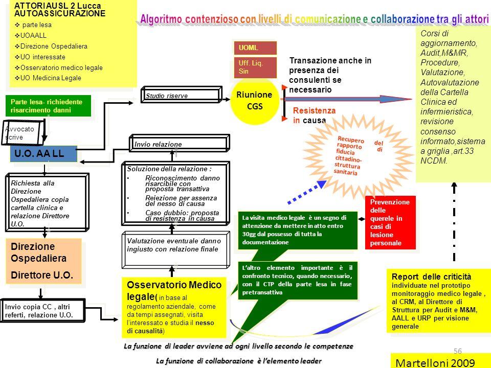 Martelloni 2009 Riunione CGS U.O. AA LL Direzione Ospedaliera
