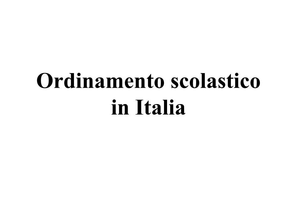 Ordinamento scolastico in Italia