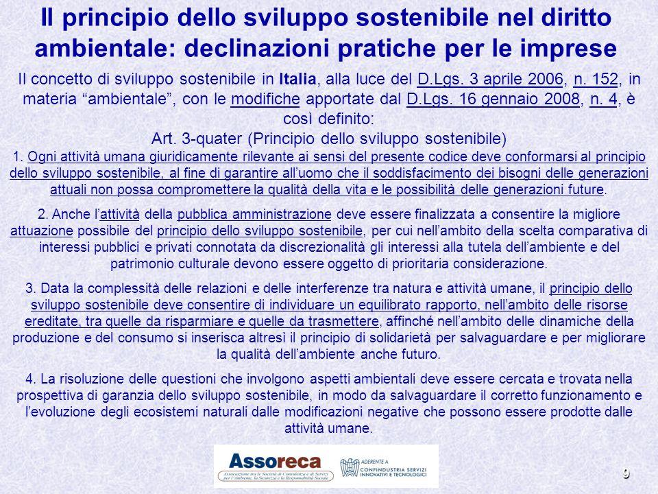Il principio dello sviluppo sostenibile nel diritto ambientale: declinazioni pratiche per le imprese