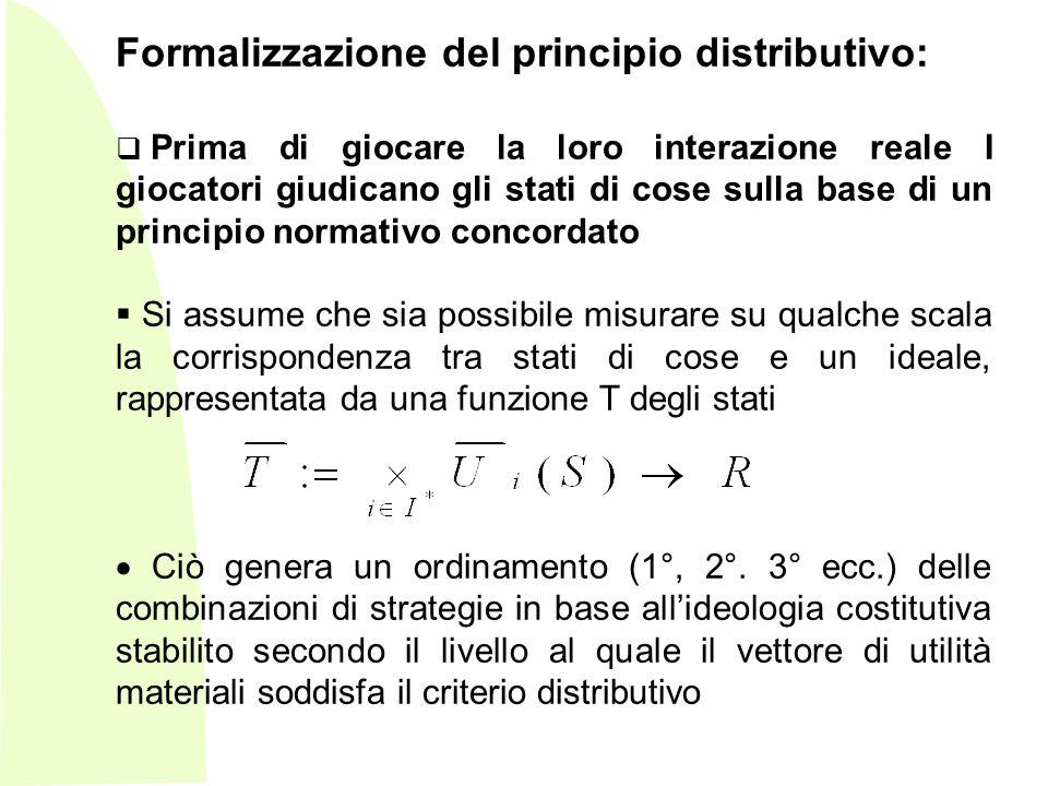 Formalizzazione del principio distributivo: