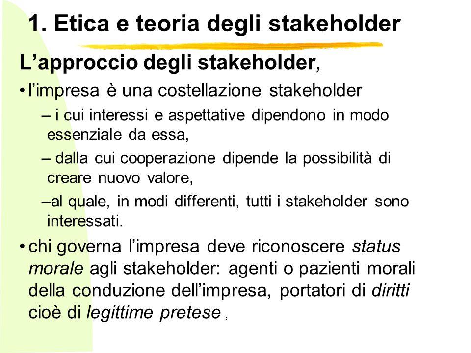 1. Etica e teoria degli stakeholder